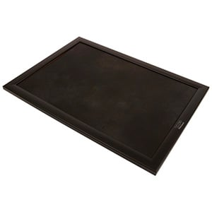 Sieraden Plateau met Opdruk - in de Breedterichtin Zwarte frame/ Zwart Nabuca kunstleer 390 x 270