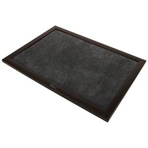 Plateau de Présentation avec Impression - Longueur Cadre en bois noir mat/ Coussin velours gris foncé 390 x 270