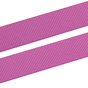 Geribbeld Satijnlint met gladde bedrukking, breed Roze 16 mm x 91,4 m