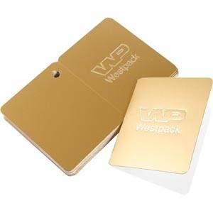 Cadeaukaartjes met logobedrukking, dubbelzijdig Goud karton 45 x 55