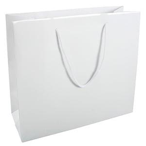 Torebka błyszcząca ze sznureczkiem xl Kolor biały 280 x 250 x 115
