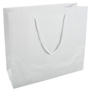 Grootverpakking: Draagtasje zonder coating, XL Mat Wit Kraftpapier 280 x 250 x 115