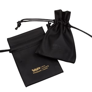 Leatherette pouches for jewellery, small Black 70 x 90