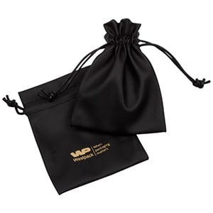 Leatherette pouches for jewellery, medium Black 90 x 120