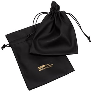 Leatherette pouches for jewellery, large Black 120 x 170