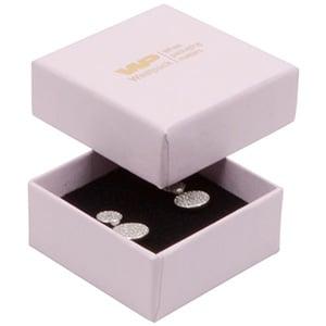 Grootverpakking -  Boston doosje oorsieraden Lichtroze Karton / Zwart foam 50 x 50 x 22