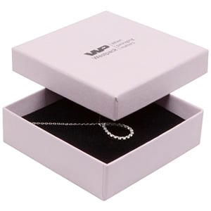 Grootverpakking -  Boston doosje hanger/armband Lichtroze Karton / Zwart foam 86 x 86 x 26