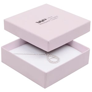 Grootverpakking -  Boston doosje hanger/armband Lichtroze Karton / Wit foam 86 x 86 x 26
