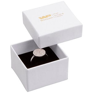 Zakupy Hurtowe: Santiago opakowania na pierścionek Biały karton / czarna gąbka 50 x 50 x 32