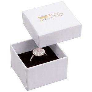 Bulk buy -  Santiago box for ring White cardboard / Black foam 50 x 50 x 32