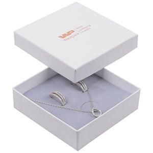 Grootverpakking -  Santiago doosje hanger/armband Wit Karton / Grijs foam 86 x 86 x 26
