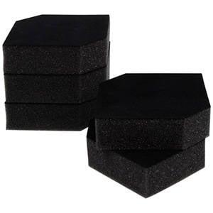 Grootverpakking: Foam insert voor horlogedoosje Zwart 85 x 85 x 25 0 027 071 / 0 018 071