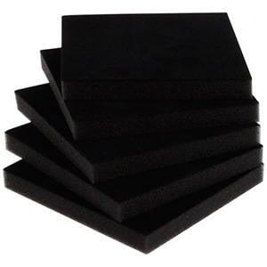 Extra foam insert Zwart 120 x 120 x 7
