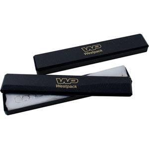 Grootverpakking -  Rio doosje hanger/armband Blauw plastic met glitter / Witte watten 220 x 40 x 19
