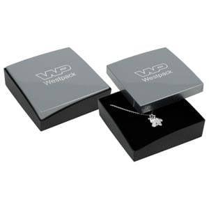 Grootverpakking -  Copenhagen doosje universeel Zilver deksel, zwarte bodem / Zwart foam 80 x 80 x 24