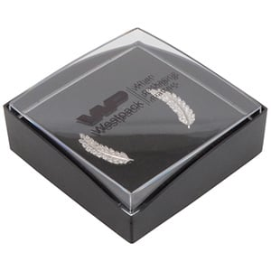Bulk buy -  Copenhagen Open box for pendant Transparent lid, black base / Black foam 60 x 60 x 21