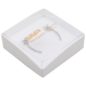 Bulk buy -  Copenhagen Open box for pendant Transparent lid, white base / White foam 60 x 60 x 21