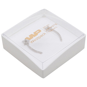Grootverpakking -  Copenhagen Open doosje hanger Transparant deksel, witte bodem / Wit foam 60 x 60 x 21