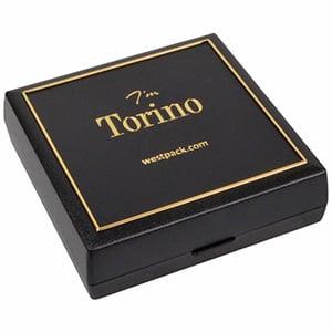 Achat en gros: Torino écrin pour BO/ pendentif Plastique noir, liseré doré / Mousse noire 84 x 84 x 25