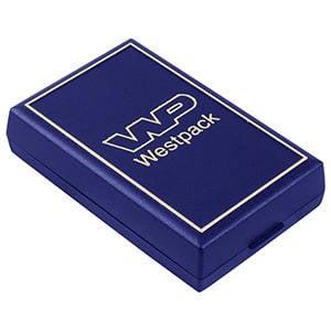 Grootverpakking -  Torino doosje grote hanger/ set Blauw plastic met gouden bies / Zwart foam 55 x 92 x 21