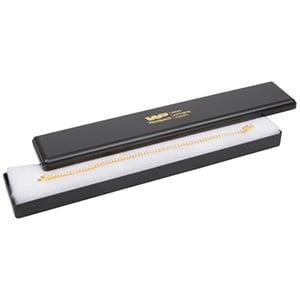 Grootverpakking -  Seville doosje armband, lang Zwart plastic / Witte watten 216 x 36 x 21