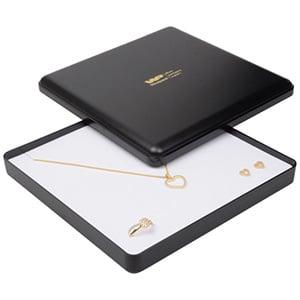 Achat en gros: Seville écrin pour collier Plastique noir /Interieur mousse blanche 160 x 160 x 27