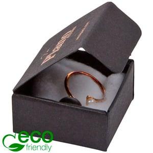 Plano 1000 ECO vouwbaar cadeaudoosje, 40 mm Mat zwart FSC®-gecertificeerd karton 40 x 40 x 20