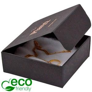 Plano 1000 ECO vouwbaar cadeaudoosje, 80 mm Mat zwart FSC®-gecertificeerd karton 80 x 80 x 30