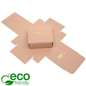 Plano 1000 ECO vouwbaar cadeaudoosje, 80 mm Mat naturel FSC®-gecertificeerd karton 80 x 80 x 30