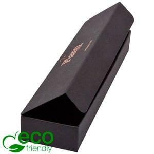 Plano 1000 ECO vouwbaar cadeaudoosje, kleine lepel Mat zwart FSC®-gecertificeerd karton 190 x 48 x 25