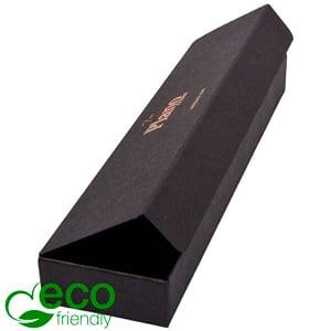 Plano 1000 ECO vouwbaar cadeaudoosje, grotee lepel Mat zwart FSC®-gecertificeerd karton 225 x 55 x 25