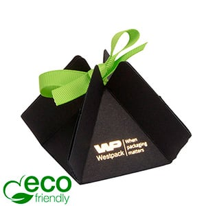 Cairo ECO Foldable Gift Box for Jewellery, Small Matt Black FSC®-certified cardboard 50 x 50 x 55