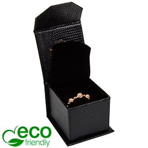 Nice ECO Jewellery Box for Ring Black Croco Leatherette Cardboard/ Black Foam 47 x 52 x 39