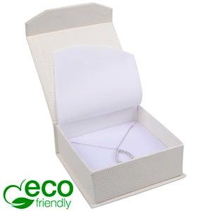 Nice ECO sieradendoosje voor armring/ hanger Crèmekleurig kunstleer met slangenprint / Wit foam 85 x 81 x 32