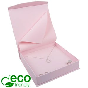 Milano ECO Jewellery Box for Necklace Rose Soft-Touch Cardboard / Rose Foam 165 x 165 x 35