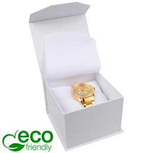 Milano ECO Jewellery Box for Watch White Soft-Touch Cardboard/White Foam 100 x 100 x 70