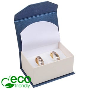 Milano ECO opakowania obrączki/spinki do mankietów Perłowy niebieski/białe/białe 67 x 46 x 35
