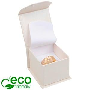 Milano ECO sieradendoosje voor ring Pearl ivoorwit karton/ Wit interieur 47 x 52 x 39