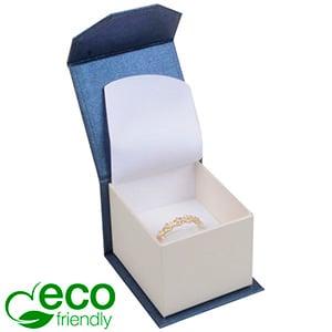 Milano ECO sieradendoosje voor ring Pearl blauw-ivoorwit karton/ Wit interieur 47 x 52 x 39