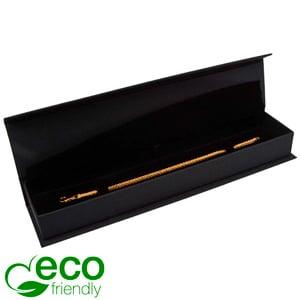 Milano ECO opakowania na bransoletki, zegarki Czarny karton / skóropodobne czarna wkładka 227 x 50 x 26