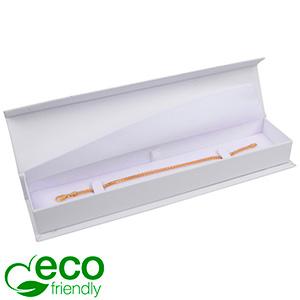Milano ECO sieradendoosje voor armband Wit Soft-Touch Karton / Wit foam 227 x 50 x 26
