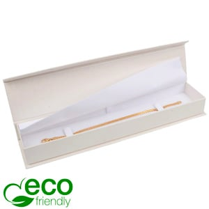 Milano ECO sieradendoosje voor armband Pearl ivoorwit karton/ Wit interieur 227 x 50 x 26