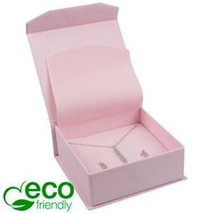 Milano ECO écrin pour bracelet/grand pendentif Carton Doux au Toucher Rose / Mousse Rose 85 x 81 x 32
