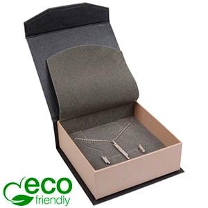 Milano ECO sieradendoosje armring / hanger Pearl antraciet-zilver karton/ Antraciet foam 85 x 81 x 32