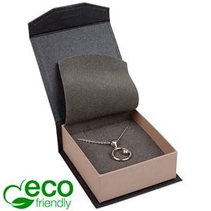 Milano ECO sieradendoosje voor oorbellen/ hanger Pearl antraciet-zilver karton/ Antraciet foam 65 x 70 x 27