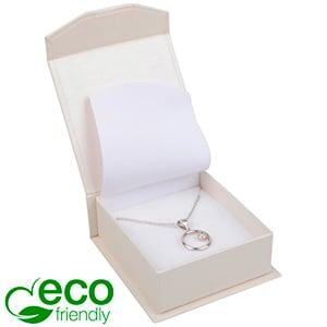 Milano ECO sieradendoosje voor oorbellen/ hanger Pearl ivoorwit karton/ Wit foam 65 x 70 x 27