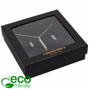Boston Open ECO Jewellery Box for Bangle/ Pendant Matt Black FSC®-certified / rPET Window/Black Foam 86 x 86 x 26