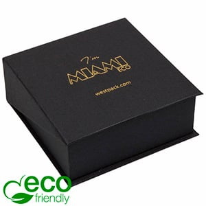 Miami ECO sieradendoosje armring / hanger Mat zwart karton / Zwart foam 85 x 87 x 36