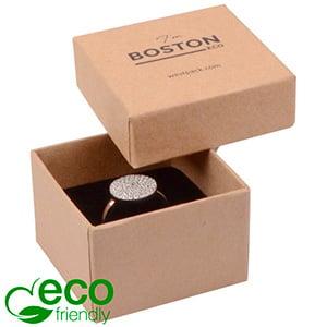 Boston ECO opakowanie na pierścionek Matowy brązowy karton/czarna gąbka 50 x 50 x 32