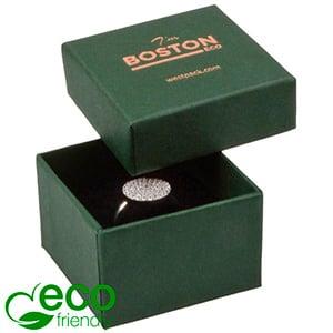 Boston ECO sieradendoosje voor ring Donkergroen karton / Zwart foam 50 x 50 x 32